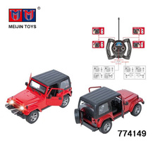 New products 2.4GHz 1:16 die cast rc jeep alloy toy car for sale