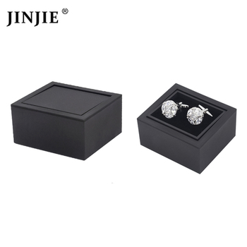 소매 2 color trendy brown 및 black 회전 cufflinks storage box