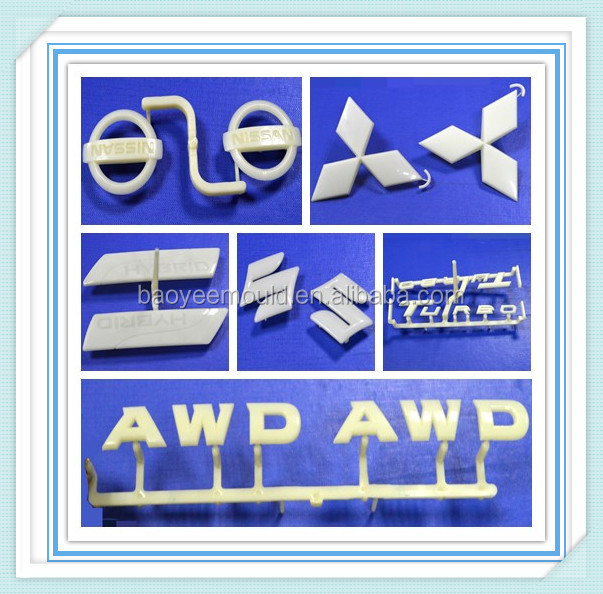high quality different types of auot accessories car brand name labels,car logo,car head label injection mould