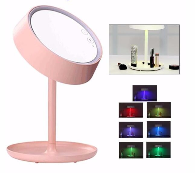 2017 Hot Sale makeup mirror led light mirror touch sensor switch, led make up mirror