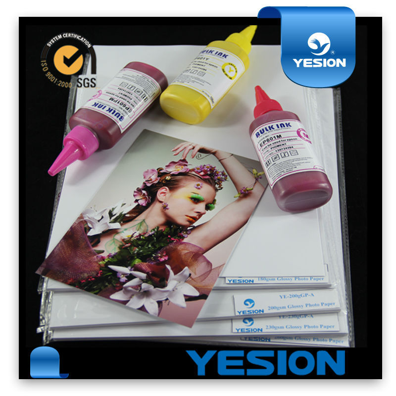 Super Premium High glossy inkjet waterproof Bark texture 350gsm A4 wholesale photo paper