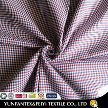 2015 latest fashion original yarn dyed designs twill poly cotton gingham CHECK RIPSTOP fabrics