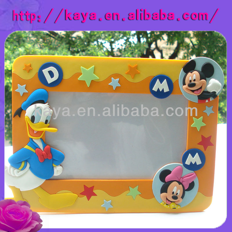 3d embossed soft pvc cartoon sex photos frames for pictures