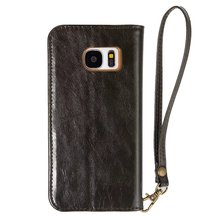 card slot real leather wallet phone case for samsung s7 e