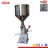 manually operated volumetric filling machine