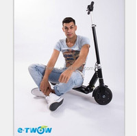 e-twow patent brushless DC motor folding scooter, two wheel stand up electric scooter