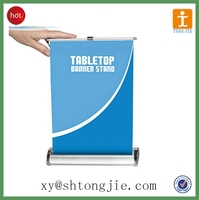 TJ--XY-744 FACTORY PRICE Standard Retractable Table Top Roll up Banner Stand,Mini Roll Up Banner
