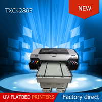 TXC Automatic automatic grade a2 size plastic id card printer and wood metal plate canvas printing machine