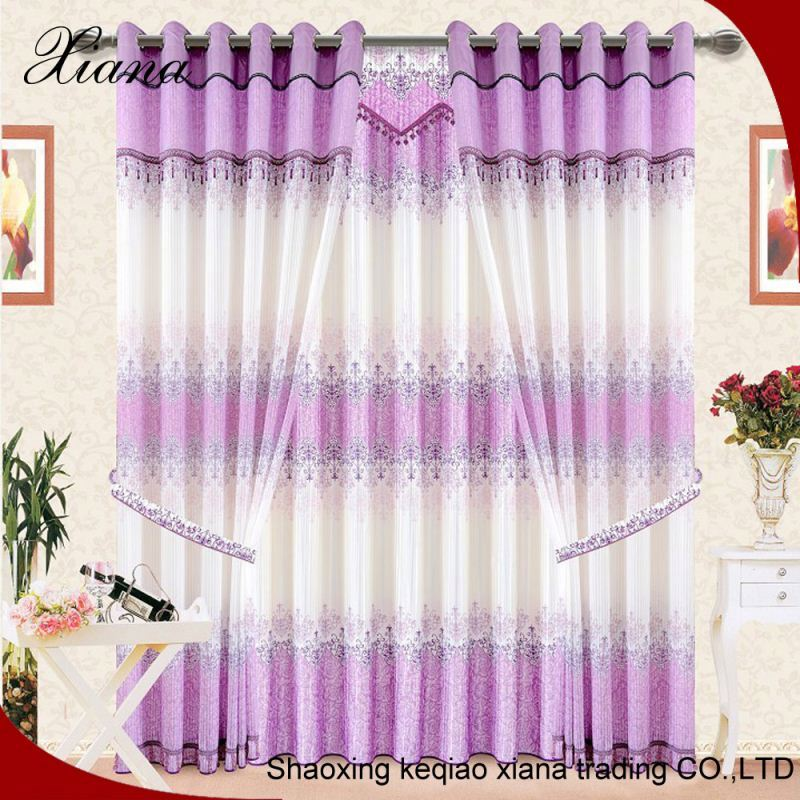 2016 household textile fancy lace ready made curtains