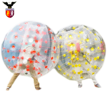 Hot Factory Price 1.0mm 100% TPU Half Color Inflatable Human Sized Bubble Soccer Ball