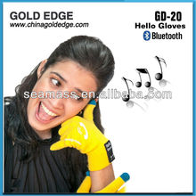 2013 Factory supply wool blutooth handset gloves with touchscreen function for smart phone