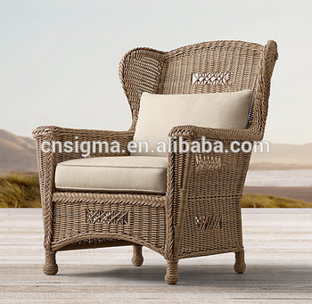2017 Trade Assurance High Quality Unique style luxury round rattan handmade lawn and patio lounge chair