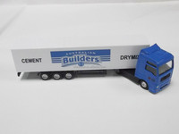 1:87 scale container trailer truck model toy