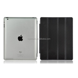 Luxury Hand-made 100% Genuine Full Carbon Fiber smart cover for ipad 3 4