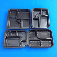 Plastic School Lunch Tray Disposable with Lid