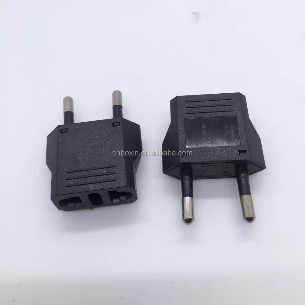 Hot selling european adapter USA AU SWISS to 2 pin round pin adapter plug
