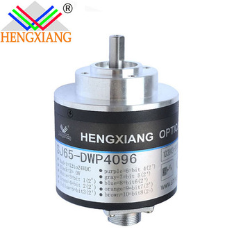 Hengxiang solid shaft absolute encoder SJ65 SSI Output/RS485/RS422 Absolute Encoder 6bit NPN