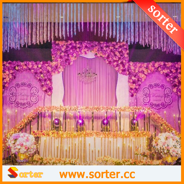 wedding backdrop/mandap decoration curtain K9 crystal bead curtains