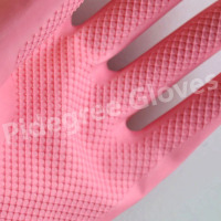 Colorful Flock Lined Latex Household Gloves