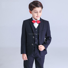 2016 New design baby boy performance clothing set slim-line flower boy suits for wedding