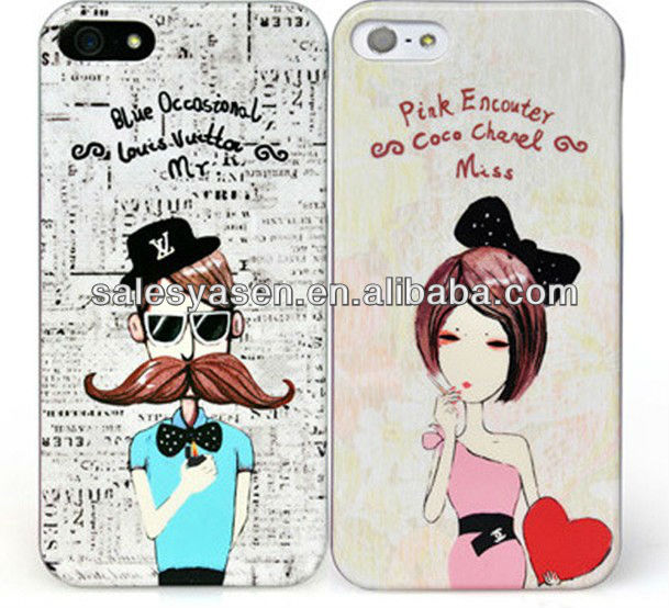 Sweet lovers for iphone 5 hard pc cases