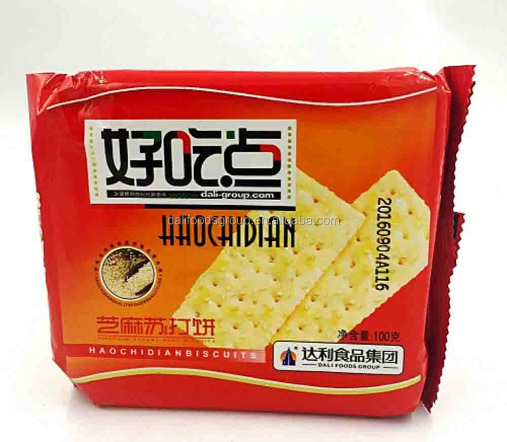 Hao Chi Dian 100g Sesame Soda Biscuit/salt biscuits for Digestive Diet