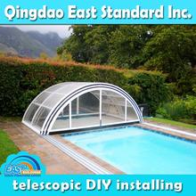 clear polycarbonate retractable prefabricated florida sunrooms