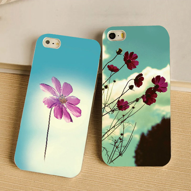Payment terms L/C case for iPhone 5s i5 i5s Flower design custom case mobile phone housing