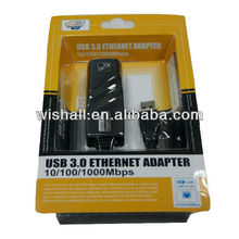 High transfer speed 3.0 usb to rj45 10/100/1000Mbps Gigabit Ethernet RJ45 External Network Card Lan Adapter