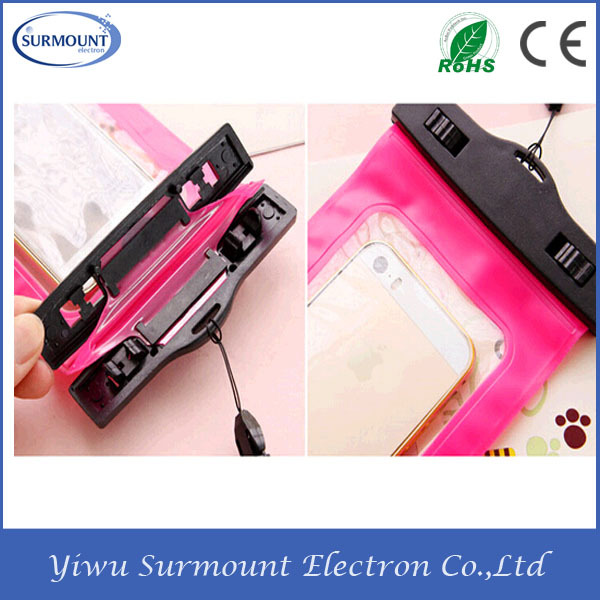 High Quality PVC Anti-water Waterproof Cell Phone Bag with Armband for iphone/samsung