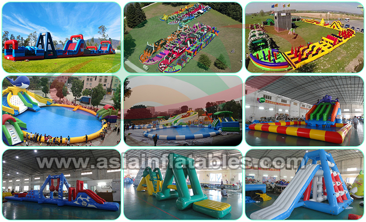 land inflatable water park swimming pool water slide inflatable water games with pool