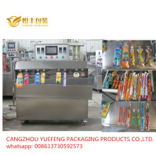 Flavored drink plastic expansion preformed bag filling sealing packing machine