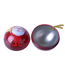 Promotional ball shape chocolate tin box