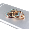 360 degree Gift Product loving heart Metal diamond Mobile Ring Holder for dell phone mobile phone Bling bling finger ring holder