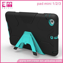 Universal Cool Credit Card Geometry 2 in 1 TPU PC Case for Apple iPad Mini 1/2/3
