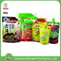 Liquid Shape Soup Packaging, Beverages Stand up Spout Pouch with Juice