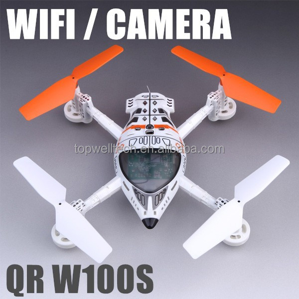 Cheap QR W100S FPV 2.4Ghz WiFi drone Video camera Quadcopter gravity flying toy plane