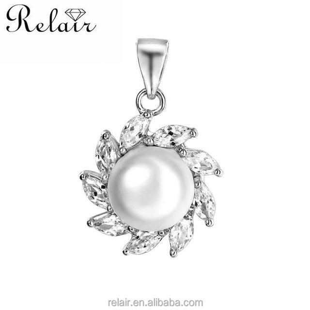 Jewelry making supplies retail online shopping gemstone jewelry sunflower shape pearl pendant