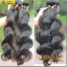 Bosin Hair 7A raw non remy 100% malaysian virgin hair