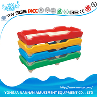 Used for Kindergarten or daycare children Plastic and wooden material bed
