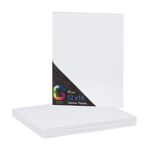 6 pcs / pk 12 * 16 Best quality art mat white cotton panel board canvas boards for painting