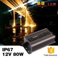 High efficiency constant voltage IP67 waterproof iron shell 80w 5v power supply indoor outdoor using