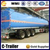 Transport 3 axles milk tanker semi trailer with air suspension