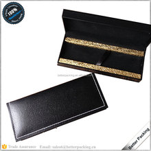 PB009 Black Golden Leatherette Luxury Quality Gift Packaging Pen Box