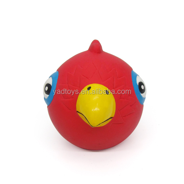 Hot sell 60mm Bird shape nature rubber chewing pet toys