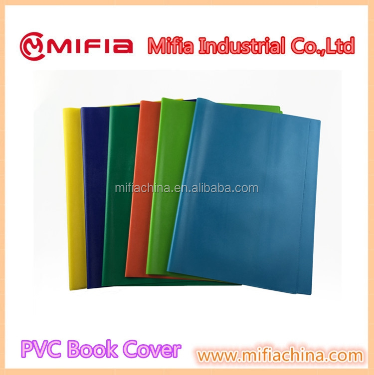 colorful a3 size school student design pvc leather exercise book cover