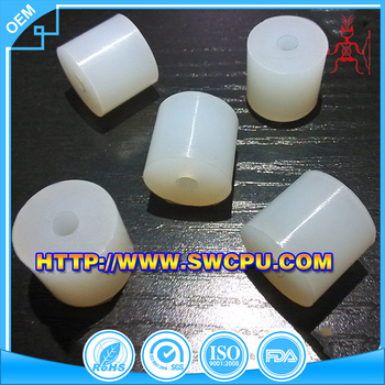 Injection white rubber products custom silicone bushing