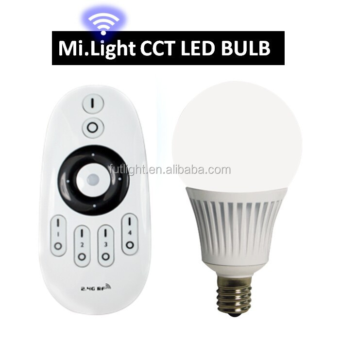 2015 Mi.light 5W e14 2.4G RF WIFI dimming CCT PAR led bulb, remote control - FUT011