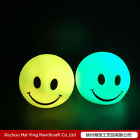 Plastic LED ball light with smile