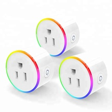 RGB plug night light smart plug wifi enable smart socket wifi  wireless US plug electrical socket App control